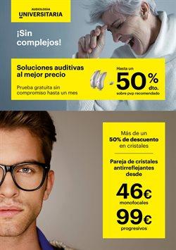 Ofertas de Lentillas  en el folleto de Optica Universitaria en Madrid