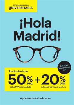 Ofertas de Optica Universitaria  en el folleto de Madrid