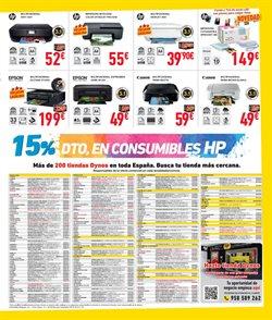 Ofertas de Canon  en el folleto de Dynos Informática en Madrid