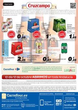 Ofertas de Cruzcampo  en el folleto de Carrefour en Sanlúcar de Barrameda