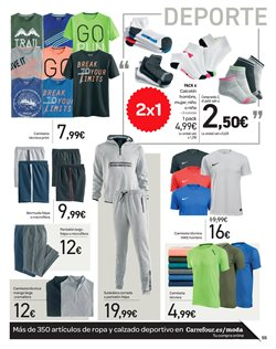 Ofertas de Pantalones de deporte  en el folleto de Carrefour en Valladolid