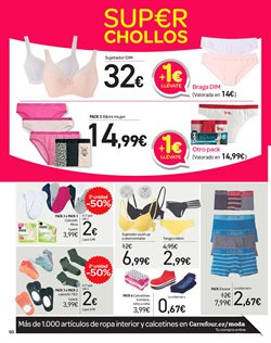 Ofertas de Ropa interior  en el folleto de Carrefour en Madrid