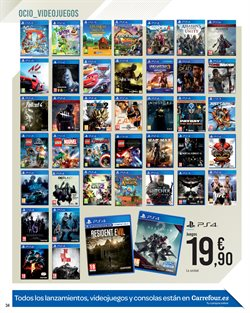 Ofertas de Juegos PS4  en el folleto de Carrefour en Dos Hermanas