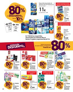 Ofertas de Gillette  en el folleto de Carrefour en Bilbao