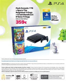Ofertas de PS4  en el folleto de Carrefour en León