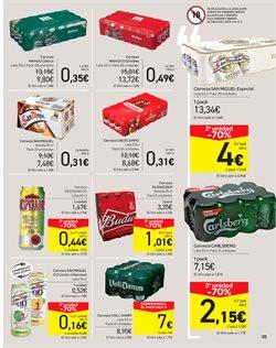 Ofertas de Cruzcampo  en el folleto de Carrefour en Pamplona