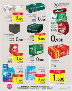 Ofertas de Agua  en el folleto de Carrefour en San Cristobal de la Laguna (Tenerife)