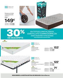 Ofertas de Camas  en el folleto de Carrefour en Barcelona