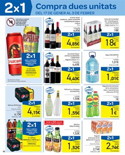 Ofertas de Vinos de California  en el folleto de Carrefour en Barcelona