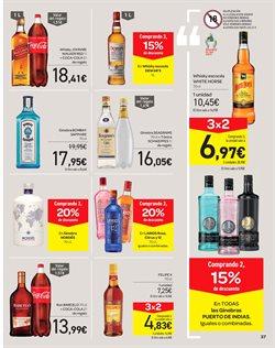 Ofertas de Ginebra  en el folleto de Carrefour en San Sebastián de los Reyes