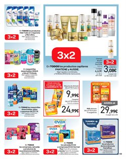 Ofertas de Gillette  en el folleto de Carrefour en San Cristobal de la Laguna (Tenerife)