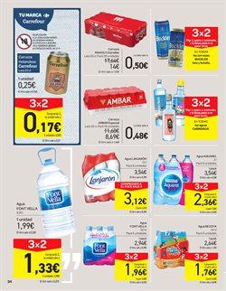 Ofertas de Agua  en el folleto de Carrefour en Pamplona