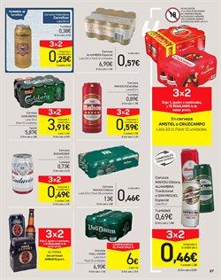 Ofertas de Cerveza  en el folleto de Carrefour en San Cristobal de la Laguna (Tenerife)