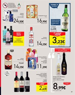 Ofertas de Sangría  en el folleto de Carrefour en San Cristobal de la Laguna (Tenerife)