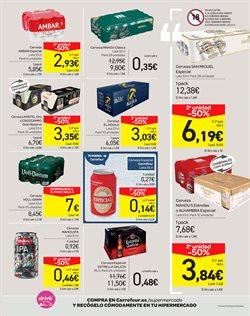 Ofertas de San Miguel  en el folleto de Carrefour en Bilbao