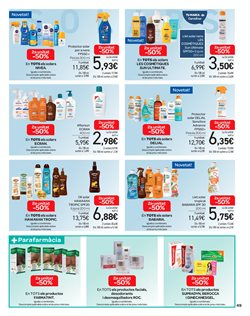 Ofertas de Protector solar  en el folleto de Carrefour en Barcelona