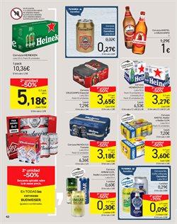 Ofertas de Cerveza  en el folleto de Carrefour en El Ejido