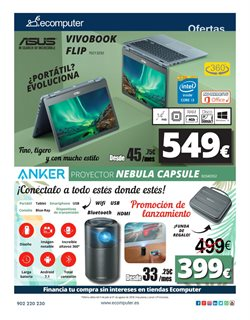 Ofertas de Asus  en el folleto de Ecomputer en Madrid