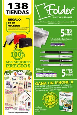 Ofertas de Libros y papelerías  en el folleto de Folder en San Sebastián de los Reyes