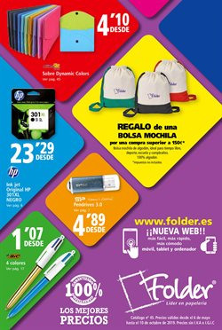 Ofertas de Folder  en el folleto de Bilbao