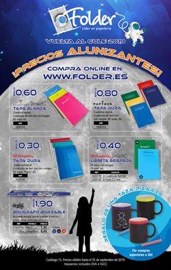 Ofertas de Libros y papelerías  en el folleto de Folder en Tudela