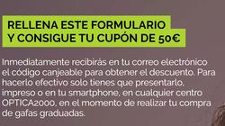Cupón Optica 2000 en Eibar ( Más de un mes )
