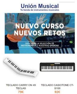 Ofertas de Unión musical en el catálogo de Unión musical ( 3 días más)