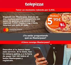 Ofertas de Telepizza  en el folleto de Madrid