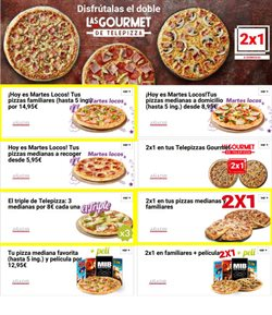 Ofertas de Restauración  en el folleto de Telepizza en Marratxi