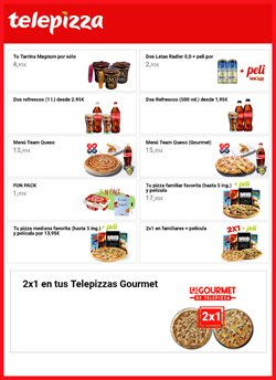 Ofertas de Restauración  en el folleto de Telepizza en Calella