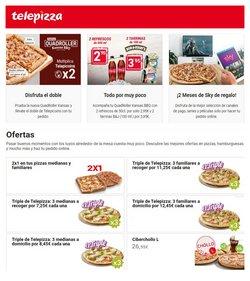 Ofertas de Restauración en el catálogo de Telepizza en Caravaca de la Cruz ( 6 días más )