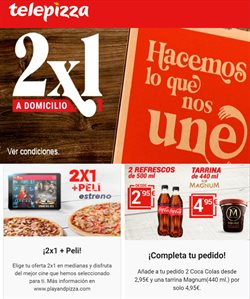 Ofertas de Restauración en el catálogo de Telepizza en Manresa ( Publicado ayer )