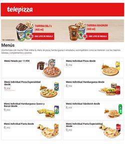 Ofertas de Restauración en el catálogo de Telepizza en Rincón de la Victoria ( 17 días más )