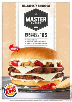 Ofertas de Restauración  en el folleto de Burger King en Manacor