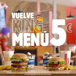 Ofertas de Restauración en el catálogo de Burger King en Novelda ( 14 días más )