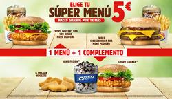 Ofertas de Burger King  en el folleto de San Bartolomé de Tirajana