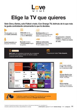 Ofertas de Tv led  en el folleto de Orange en Palamos