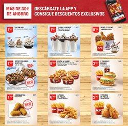 Ofertas de KFC  en el folleto de Barcelona