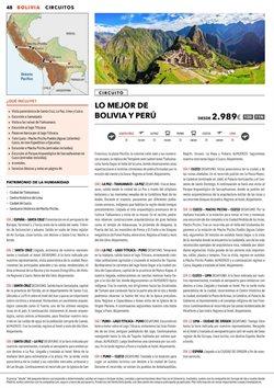 Ofertas de Viajes a Perú  en el folleto de Halcón Viajes en Madrid