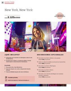 Ofertas de Viajes a Nueva York  en el folleto de Halcón Viajes en Madrid