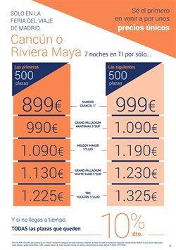 Ofertas de Viajes a México  en el folleto de Halcón Viajes en Madrid