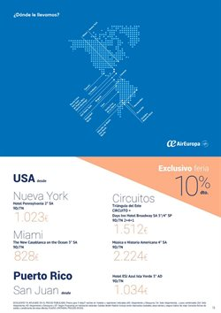 Ofertas de Viajes a Estados Unidos  en el folleto de Halcón Viajes en Madrid