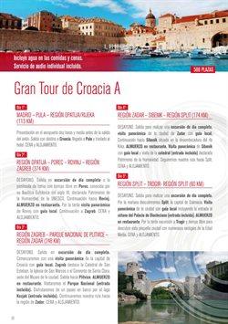 Ofertas de Viajes a Croacia  en el folleto de Halcón Viajes en Madrid