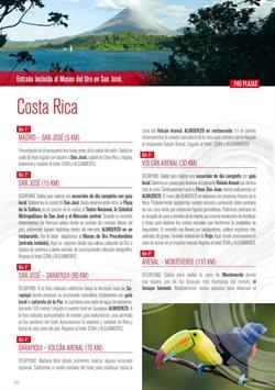 Ofertas de Viajes a Costa Rica  en el folleto de Halcón Viajes en Madrid