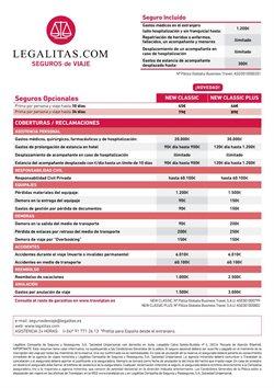 Ofertas de Seguros  en el folleto de Halcón Viajes en El Ejido