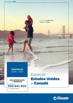 Ofertas de Viajes Ecuador  en el folleto de Benidorm