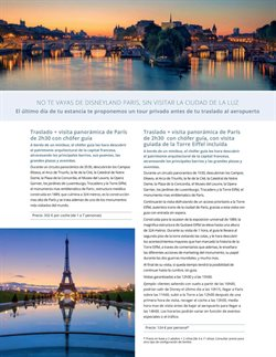 Ofertas de Viajes a París  en el folleto de B The travel Brand en Madrid