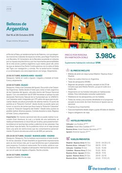 Ofertas de Viajes a Brasil  en el folleto de B The travel Brand en Palamos