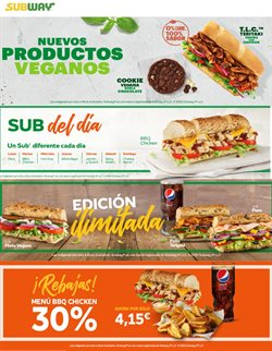 Catálogo Subway ( 19 días más)