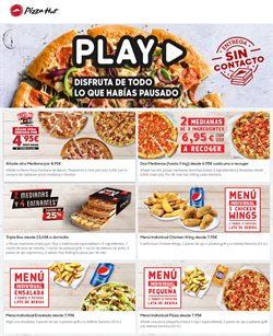 Ofertas de Restauración en el catálogo de Pizza Hut en San Sebastián de los Reyes ( 5 días más )